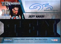 TNA Jeff Hardy 2012 TENacious BLUE Triple Relic Autograph Card SN 46 of 50