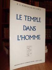 Le Temple dans l' Homme - R.A. Schwaller de Lubicz  1982