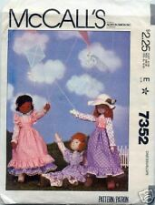 """McCall's 7352 OOP 19"""" Doll & Clothes Pattern"""