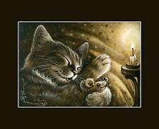Sepia Cat ACEO Print Favourite Toy by I Garmashova