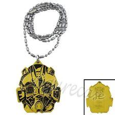Transformers Autobot Bumblebee Head Metal Pendant Necklace Gold