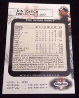 JON RAUCH 2002 FLEER BOXSCORE Autographed Signed AUTO Baseball Card 11 1838/2002