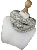 NEXT Circle Infinity Neck Ladies Beige Cream Woolly Knitted Boho Scarf Snuggly