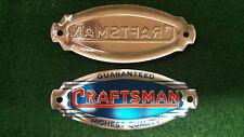 Vintage Sears Craftsman Nome Piatto 3-D Timbrato Etichetta