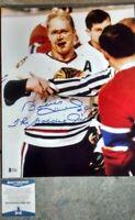 BOBBY HULL - NHL HOCKEY- CHICAGO - HAND SIGNED AUTOGRAPHED BAS COA BH1