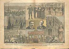 Revolution Berlin Machine Gun Soldiers Berliner Tageblatt Rosa 1919 ILLUSTRATION