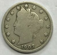 """1907  LIBERTY """"V"""" NICKEL **** NICE CIRCULATED COIN - L@@K AT PICTURES!!!!!  #425"""
