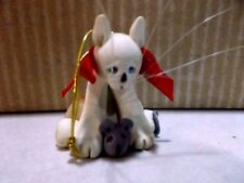 Vintage 1992 Mini Munchkins Cat With Mouse Christmas Ornament #452250