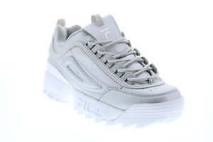 Fila Disruptor II Premium Metallic Womens Silver Lifestyle Sneakers Shoes