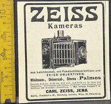 Zeiss Caméra's, minimum, Universal, stéréo, Palmos, Carl Zeiss Jena, orig. l'affichage 1907