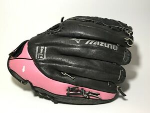 "Mizuno Prospect Softball Mitt Glove 11"" RHT Full Grain Leather GPP1105F1 BLK B2"