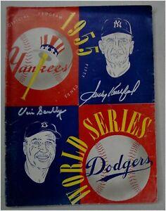 Vin Scully Sandy Koufax Signed Auto Original 1955 World Series Program JSA & OA