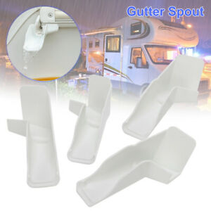 Replacement Gutter Spouts With Extensions RV Rain Camper Travel Trailer White