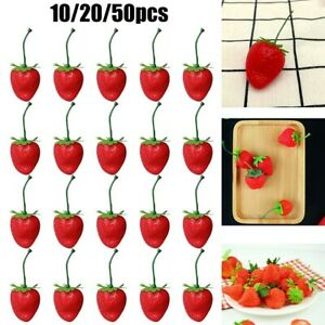Artificial Plastic Strawberry Fruits Fake Display Props Kitchen Home Craft Decor