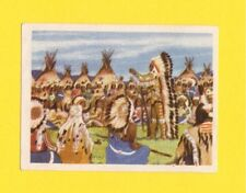 Sitting Bull Vintage Card from Belgium Grand Sioux Indian Chief