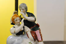 Vintage Victorian Figures Leviton Lamp - Whispering Man w/ Lute and Woman