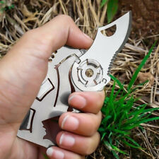 Pocket Credit Card Knife Multi Tool 9 in 1 Outdoor Survival Camping Knife NEW
