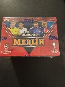 2020-21 Topps Merlin Blaster UEFA Champions Europa League Box Sealed Aqua Prism