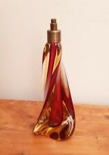Superb MCM Murano Sommerso Art Glass Lamp Base Cranberry & Amber Twist