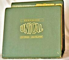 UNICAL Universal-Calculator 1936 historische Rechentabelle