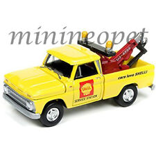 JOHNNY LIGHTNING JLCP7017 1965 CHEVY TOW TRUCK SHELL 1/64 DIECAST MODEL YELLOW