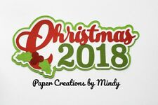CRAFTECAFE MINDY CHRISTMAS 2018 DIECUT premade paper piecing TITLE scrapbook