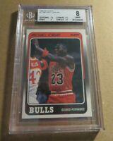 1988 Fleer Basketball Michael Jordan #17 BGS 8 NM-MT