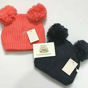 British Made Baby Boy Plain Ribbed Single Pom Pom Hats