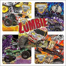 Monster Jam Stickers x 15 - Birthday Favours - Gravedigger - Zombie - Trucks