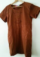 SEE BY CHLOE  DESIGNER TUNIC DRESS RUST BROWN PURE COTTON  UK 8  BNWT