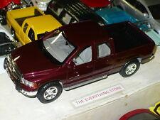 MAISTO 02 DODGE RAM QUAD CAB SLT 1500 4X4 TRUCK 1:27 Dark Garnet Red Pearl