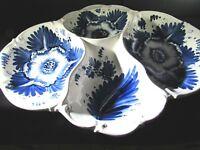 BLUE & WHITE DIVIDED SERVING PLATTER DISH HANDMADE IN ITALY