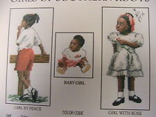 CHILDREN OF SOUTHERN ROOTS ~3 patterns~2001 *RARE & OOP~cross stitch graphs