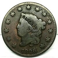 1826 Penny Coronet Large Cent - Original- Nice Coin.