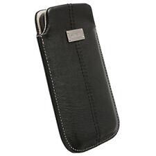 Krusell Ledertasche LUNA für HTC Sensation XL schwarz 3XL Tasche Etui Case 95342