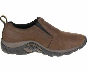 Merrell Men's Jungle Moc Slip-On Shoes Brown Nubuck (J60831) - Choose Size
