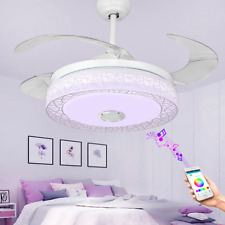 42'' Invisible Bluetooth Ceiling Fans Music Player Chandelier w/ 7-Color LED Kit