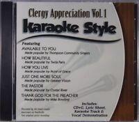 Clergy Appreciation Volume 1 Christian Karaoke Style NEW CD+G Daywind 6 Songs