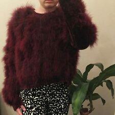 BNWOT Maribou Chenille Topshop Burgundy Jumper Size 16