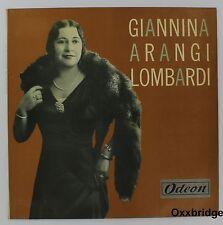 "GIANNINA ARANGI LOMBARDI Odeon NEAR MINT Rare 10"" ITALY LP  Rare Import Opera"