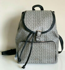 NEW! GUESS ALFRED COLLECTION BLACK NATURAL SIGNATURE LOGO TRAVEL BACKPACK BAG