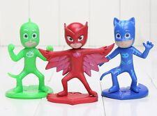 PJ Masks Catboy Owlette Playset 3 Figure Cake Topper * USA SELLER* Toy Doll Set