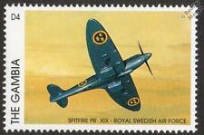 SPITFIRE PR Mk.XIX Royal Swedish Air Force Aircraft Stamp (1996 Gambia)