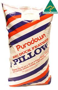 Puradown Australian 100% Duck Feather Standard Size Pillow RRP $49