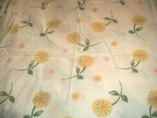 Shabby Cottage Yellow Floral Pottery Barn Kids Sheet Flat Twin Paris Chic