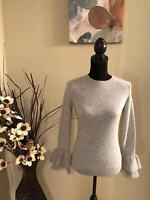 Antonio Melani Womens Size XS 100% Cashmere gray Sweater $139+tax