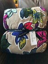 Vera Bradley Throw Blanket Falling Flowers New With Tags, Retired 80�x 50�