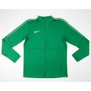 New Nike Park 18 Knit Track Full Zip Jacket Men's Large Green Soccer AA2059