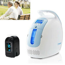 Portable Oxygen Concentrator Generator Machine Home Traval Car+Pulse Oximeter CE