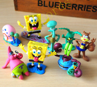 8 Pcs SpongeBob SquarePants Patrick Star PVC Figure Collection Cake Topper Toy